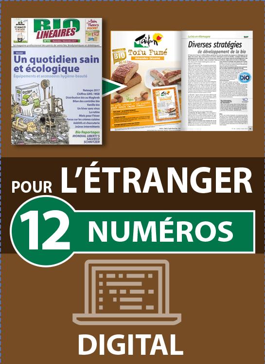 Abonnement 12 numéros BIO LINÉAIRES - 2 ANS - DIGITAL - ÉTRANGER