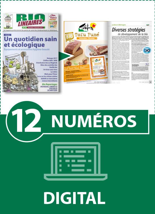 Abonnement 12 numéros BIO LINÉAIRES - 2 ANS - DIGITAL