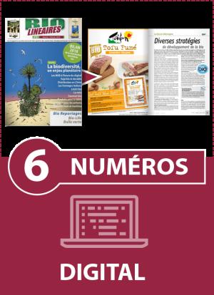 Abonnement 6 numéros BIO LINÉAIRES - 1 AN - DIGITAL