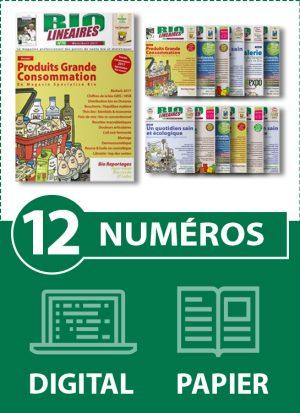 Abonnement 12 numéros BIO LINÉAIRES - 2 ANS - DIGITAL-PAPIER