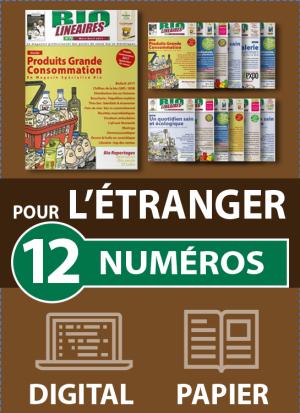 Abonnement 12 numéros BIO LINÉAIRES - 2 ANS - DIGITAL-PAPIER - ÉTRANGER