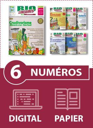Abonnement 6 numéros BIO LINÉAIRES - 1 AN - DIGITAL-PAPIER