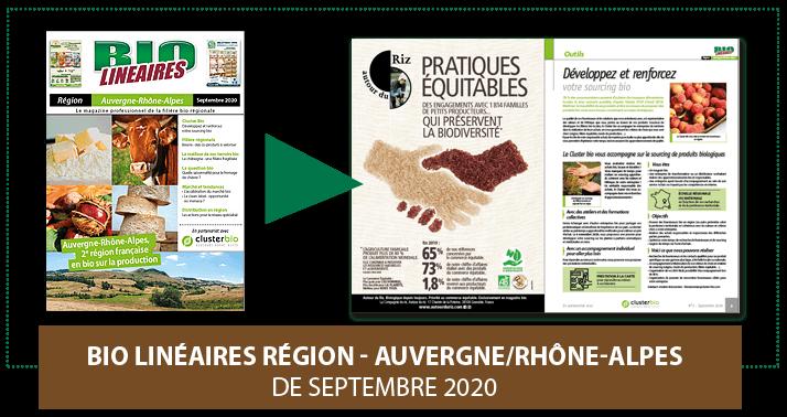 Bio Linéaires Région - Auvergne Rhônes-Alpes Septembre 2020